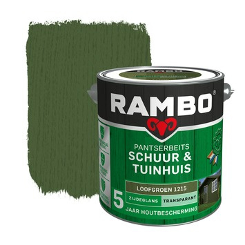 Rambo Pantserbeits Schuur en Tuinhuis Zijdeglans Loofgroen 2,5 liter