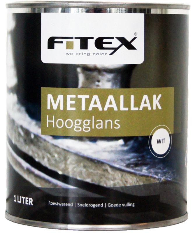 4 keer 2,5 liter Fitex Metaallak Hoogglans