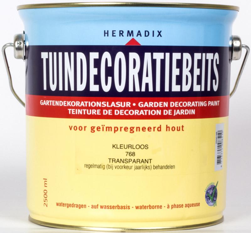 Hermadix Tuindecoratiebeits Transparant Kleurloos 2,5 liter
