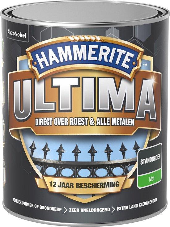 Hammerite Ultima Metaallak Mat Standgroen 750 ml