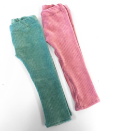 Legging ripp roze en mint