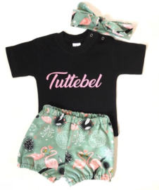 Bloomer setje flamingo mint
