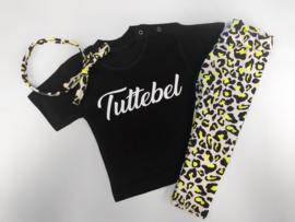 3 delig setje tuttebel & leopard neon geel