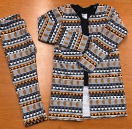 Setje long vest + legging triangels