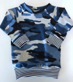 sweater leger  blauw