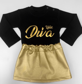 Shirtje little diva gold