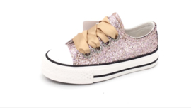Sneakers glitter champagne