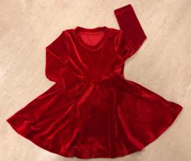 Beauty velvet dress red