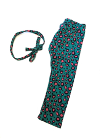 Legging green/pink dots
