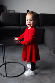 Beauty velvet dress red 104 t/m 128