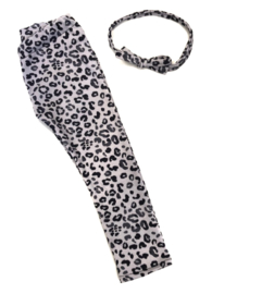 Legging leopard grey haarband