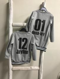 Basebal jurk grijs