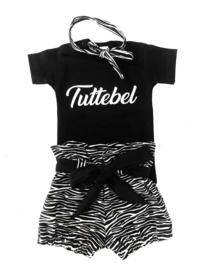 Setje Tuttebel & bloomer luxe zebra