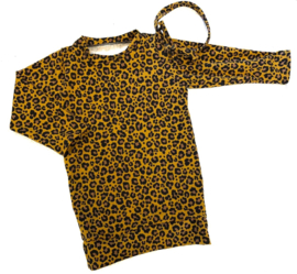 Dress leopard okergeel