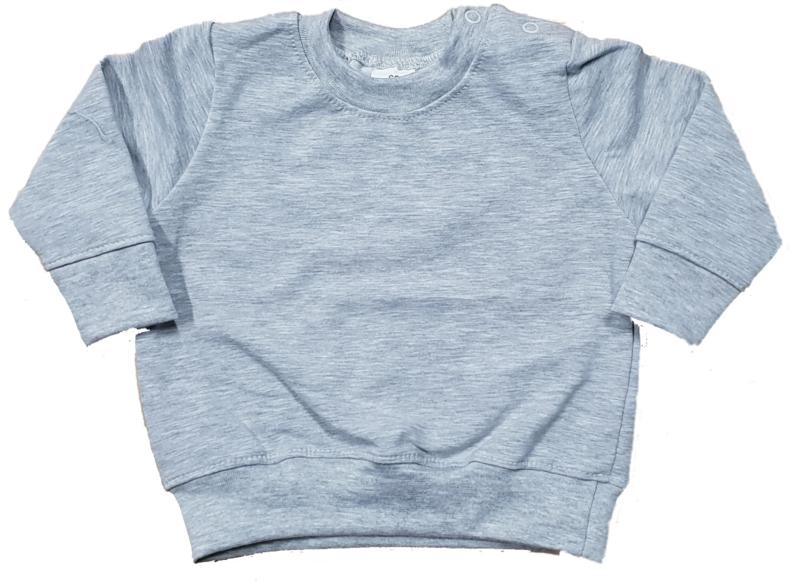 Basic sweater grijs