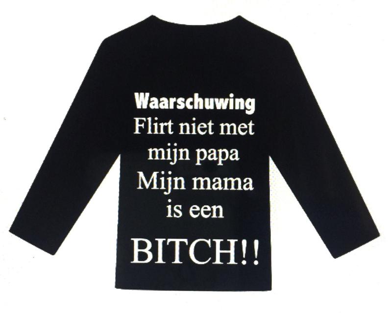 Shirt Waarschuwing