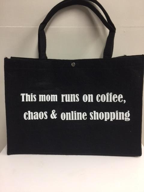 Mom bag: this mom runs on....