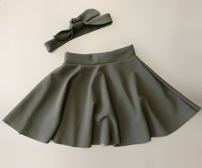 Dance with me skirt incl. headband khaki