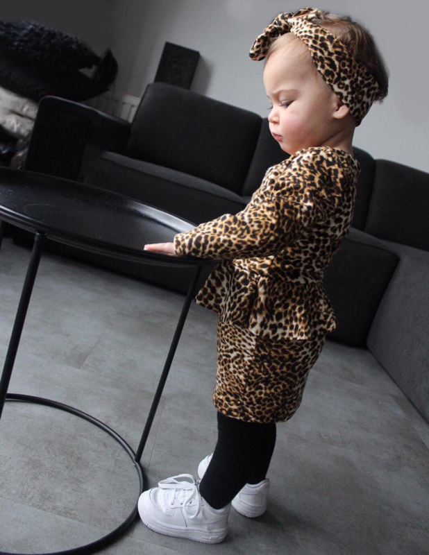 Leopard dress incl. haarband