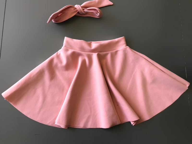 Dance with me skirt incl. headband pink