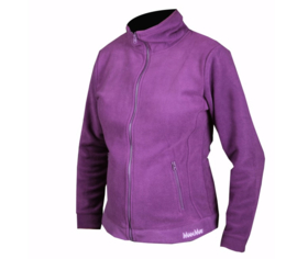Fleece jack (dames) paars