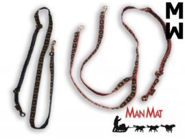 Canicross lijn 2 Hond 1,80 M, Uitgerekt ca. 2,40 M (WEDSTRIJD)