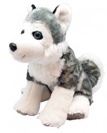 Wild Republic knuffel Husky 30cm pluche wit/grijs