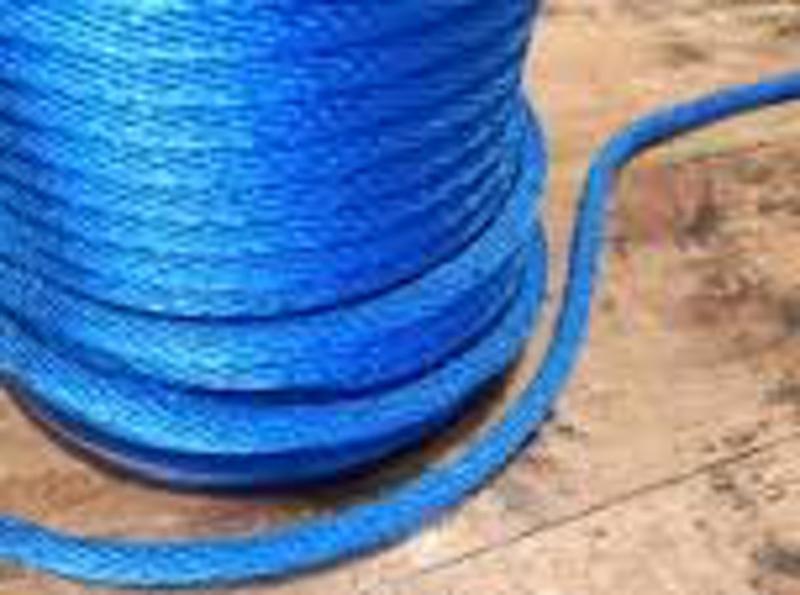 PE Seil 6 mm (16 fach eingeflochten) Blau oder Orange