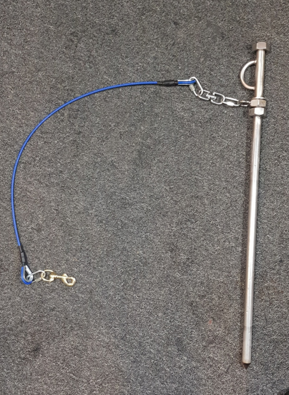 Stake-out 1 hond ( pen met kabel) 60 cm of 75 cm pen