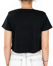 Cropped Snikheet T-Shirt Black