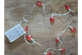 Decoratielampjes rode hartjes