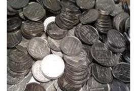 63 kwartjes UNC in munthouder diverse jaren (25 cent)