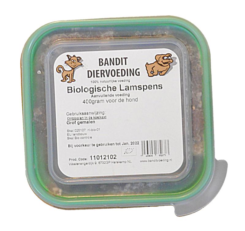 Bandit Biologisch Lamspens (Hond) | 400 gram
