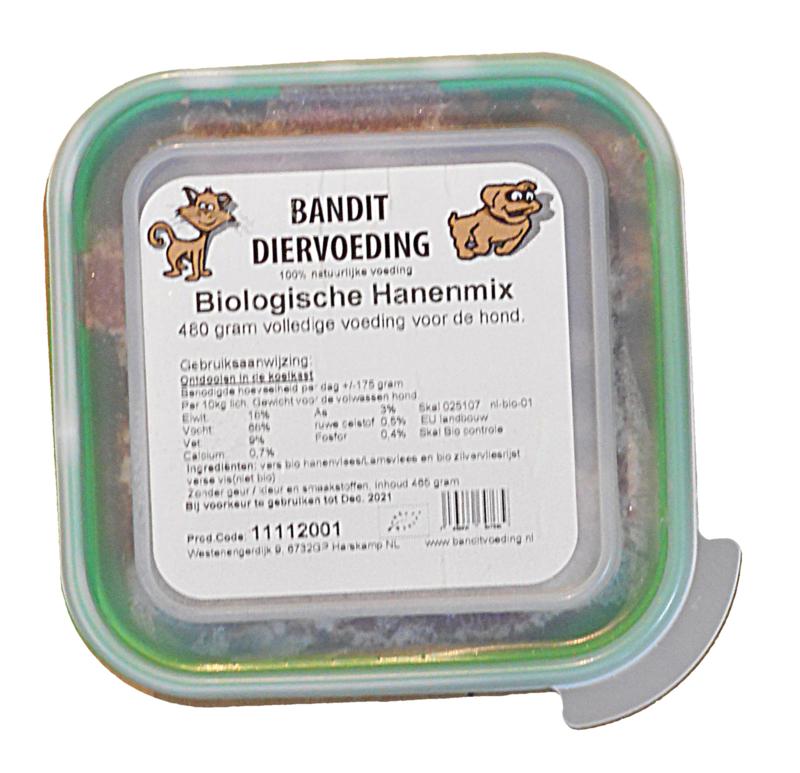 Bandit Biologische Hanenvleesmix (Hond) | 480 gram