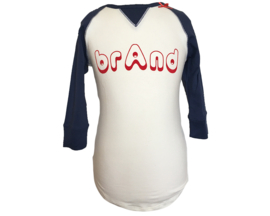 br@nd navy 3/4  t-shirt logo-98/104 girls