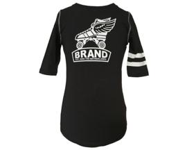 br@nd t-shirt paris nearly black-134/140