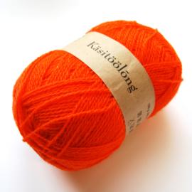 760   Oranje boven, 100 gram wol uit Estland