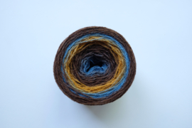 029 | Karamel, espressoboontje, luchtblauw en grijsblauw