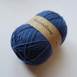 440 | Grijze spijkerbroekenblauw, 100 gram wol uit Estland
