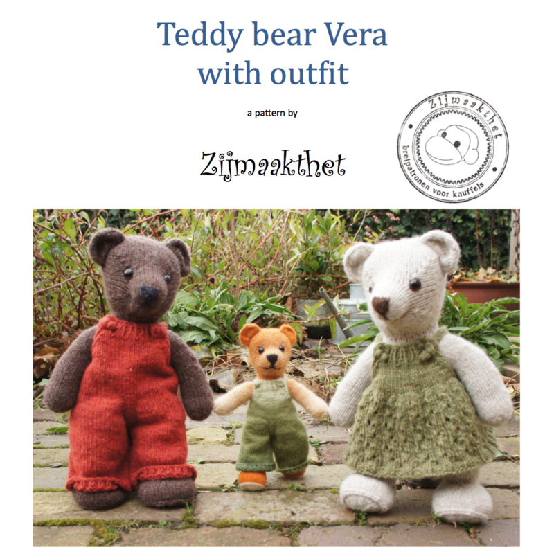 Book - Teddy bear Vera with outfit - ENGLISH VERSION