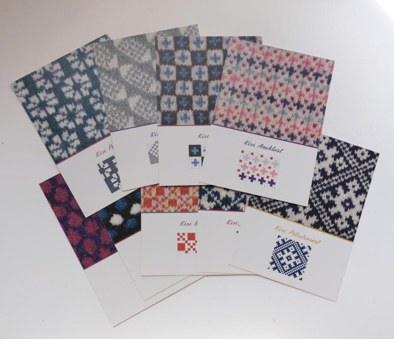 001 | Ansichtkaarten kleurbreiwerk voor wanten en handschoenen