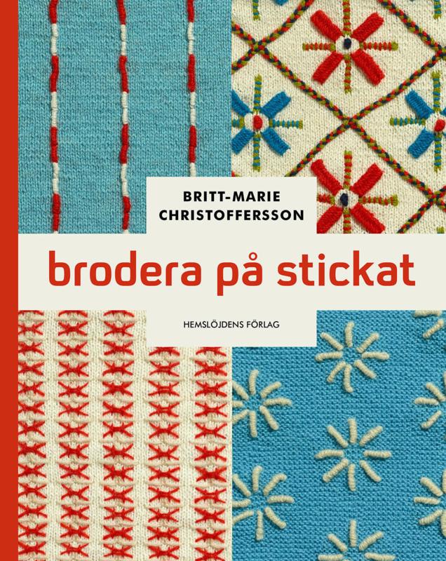 Book - Brodera på stickat - Britt Marie Christoffersson