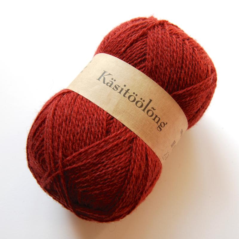 255   Warme paars, 100 gram wol uit Estland