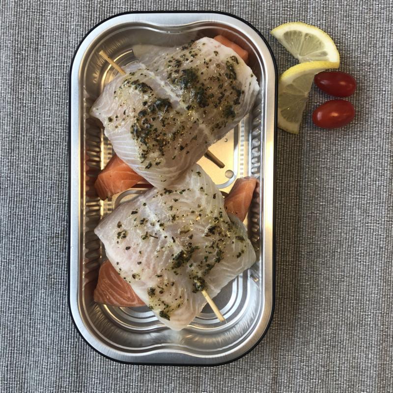 Zalm/panga ovenschaal