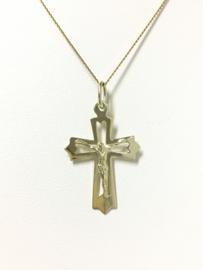 14 K Gouden Hanger - Kruis met Jezus Figuur / 3 cm