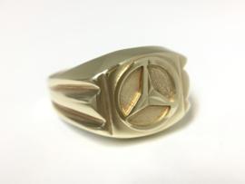 14 K Gouden Mercedes Heren Ring