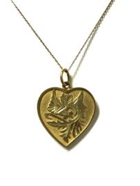 22 K Gouden Hanger Hart Met Symbolen - 3 Cm / 5,7 g