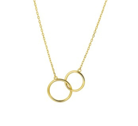 14 K Gouden Collier Ringen (Verstelbaar)  - 40 + 4 cm