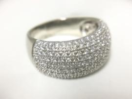 14 K Witgouden Pavé Ring 0.75 crt Briljantgeslepen Diamant - Diamond Point