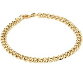 14 K Gouden Gourmet Schakel Armband - 5,2 mm / 19 cm